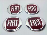 FIAT 4 x 60mm Alu Emblem Felgen Aufkleber Logo Nabendeckel Nabenkappen