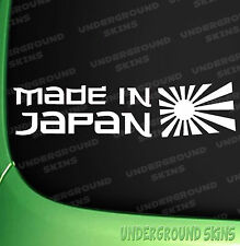 Made in Japan Car Sticker JDM DRIFT FUNNY NISSAN TOYOTA HONDA VINYL DECAL