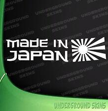 Made in Japan Car Sticker JDM DRIFT FUNNY NISSAN TOYOTA HONDA VINYL DECAL