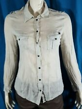IKKS Taille  38 Superbe chemise manches longues grise femme blouse