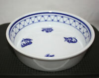 Ceramic / Porcelain Bowl ~ White w/ Blue Design ~ Bin Shihon Abomar