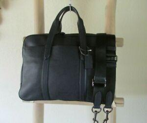 NEW COACH 72318 METROPOLITAN REFINED NAVY LEATHER SOFT BRIEF/X-BODY BAG