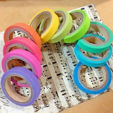 10pcs DIY Rainbow Washi Sticky Paper Masking Colorful Scrapbooking Adhesive Tape