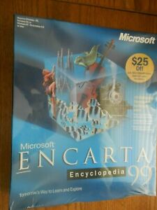 Microsoft ENCARTA Encyclopedia 99 - Vintage Windows - NEW in Sealed Box
