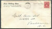 """CANADA WWII BLACK OUT CANCEL COVER """"PRINCE RUPERT"""""""