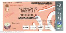 Billet  / Place  OM Olympique de Marseille -  AS monaco vs OM  ( 073 )