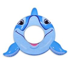 "Dolphin Swim Ring 40"" Tube Float Inflatable Banzai Play Blue Party Fun Game"