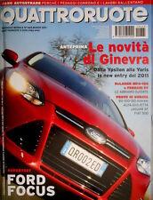 Quattroruote 665 2011 Prove Alfa Giulietta, Jaguar XF, Fiat 500. Ferrari  [Q.34]