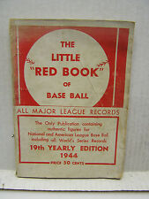 """1944 The Little """"Red Book"""" of Base Ball- Softcover Baseball Book  (L9677)"""