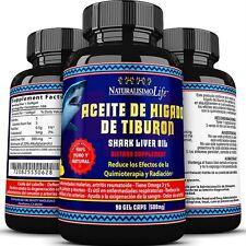 Shark Liver Oil Aceite de Higado de Tiburon 500mg 20% Alkylglycerols Softgel