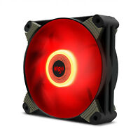 Aigo X1 120mm Red LED High Airflow Hybrid-Design Silent PC Case Fan Cooler
