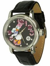 Disney Uhren, Unisex Automatikuhr mit Daisy Duck Motiv besetzt mit Zirkonia, OVP