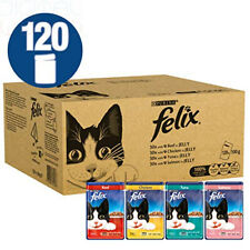 Felix Mixed Meat and Fish Cat Food, 120 x 100 g, 120 Pouches 120