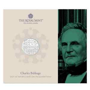 New** Royal Mint - 2021 Charles Babbage BU 50p Coin Pack - Fifty Pence
