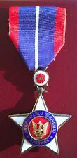 Malaysia Malaya Star of Sarawak Medal Order Badge Silver Bentara Bintang B.B.S.