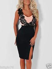 Vestito donna corto sexy mini abito in pizzo vestitino damigella party DS60395