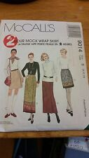 McCall's 2 Hr Mock Wrap Skirt 9014 Size B (8, 10, 12) NEW