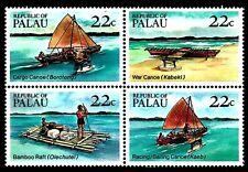 SELLOS TEMA BARCOS PALAU 1985 65/68 CANOAS 4v.