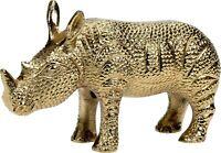 Animal Ornament Figurine - Small Rhino Safari Statue Gold Home Decoration Gift