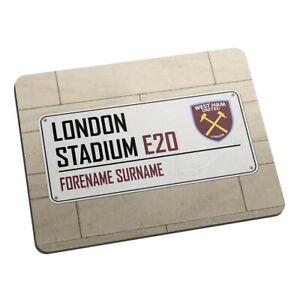 West Ham United F.C - Personalised Mouse Mat (STREET SIGN)