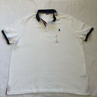 Polo Ralph Lauren Classic Fit Short Sleeve White Shirt Rugby Men's XXL - NWT
