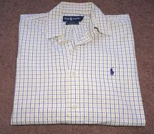 Polo Ralph Lauren Blake Men's Plaids White Long Sleeve Casual Shirt Size S