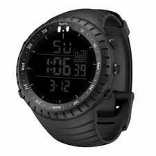 Men Wristwatch Outdoor Sport Round Digital Running Military Waterproof Stopwatch