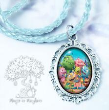 Henry Hugglemonster & Family Necklace - Handmade Children's Jewelry - Disney