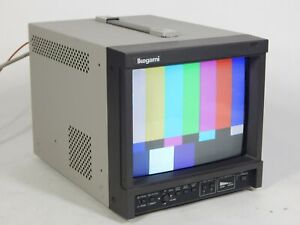 """Ikegami TM9-3 9"""" Color CRT Video Broadcast Monitor"""