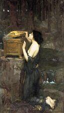 "perfact 24x48 oil painting handpainted on canvas""Pandora""N5641"