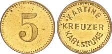 5 Pfennig 1927-1940 Deutschland / Kreuzer Karlsruhe  5 Pfennig für die Kantine