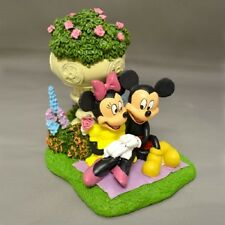 Hope Blooms with Love Mickey and Minnie Figurine Bradford Exchange Disney