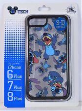 Disney Parks Exclusive Stitch 3-D Effect Apple Iphone 6S/7/8 Plus Cellphone Case