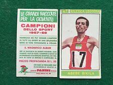 CAMPIONI DELLO SPORT 1967-68 n.47 Abebe BIKILA ATLETICA Figurina Panini (NEW)