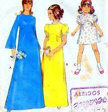 Vintage 60s GIRLS BRIDESMAID DRESS Sewing Pattern Size 14 RETRO Cosplay PARTY
