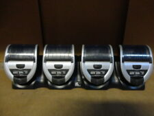 Set of 4 Zebra MZ320 Mobile Bluetooth Portable Label Printer + MZ Power Station