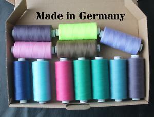 Nähgarn Universal Stärke 120 Polyester 1000 Meter 12 verschiedene Farben