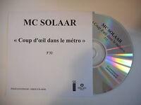 MC SOLAAR : COUP D'OEIL DANS LE METRO [ CD SINGLE PORT GRATUIT ]