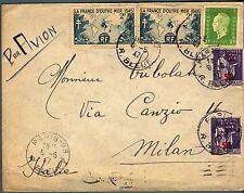 FRANCIA - Aerogramma (06.06.1947) affrancata per 15 franchi
