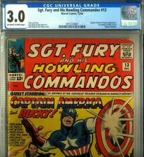 PRIMO:  SGT FURY #13 w CAPTAIN AMERICA & Bucky GD/VG 3.0 CBCS Marvel movie cgc
