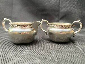 Antique Reed & Barton Sterling Silver Sugar & Creamer X828