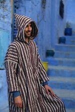 Hooded warm Coat, Djellaba, wool handmade, casual jacket, men festival jacket