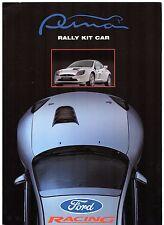 Ford Puma Rally Coche 2000 mercado del Reino Unido Folleto de ventas Plegable VK14 VK16