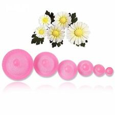 Set of 6 Daisy Centre Stamps Flower Plastic Icing Cut Out Cutters Sugarcraft