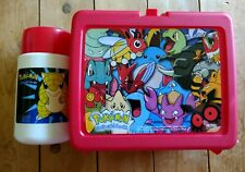 EUC Pokemon Red Lunch Box/Thermos 2000 Nintendo Multiple Characters