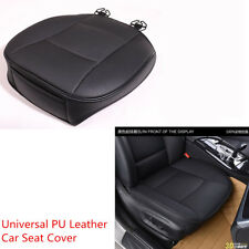 1pcs PU Leather Breathable Durable Car Sedan Front Seat Seat Cover Cushion Black