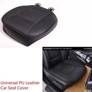 1pcs Black PU Leather Breathable Durable Car Sedan Front Seat Seat Cover Cushion