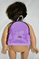 "18"" Dolls Clothes Purple Backpack For Our Generation American Girl Doll"