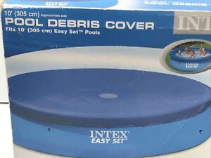 Intex 10 Foot Easy Set Above Ground Swimming Pool Debris Vinyl Round Cover
