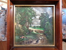 Vintage Hand Painted Tile w/ Meticulous Bucolic Detail